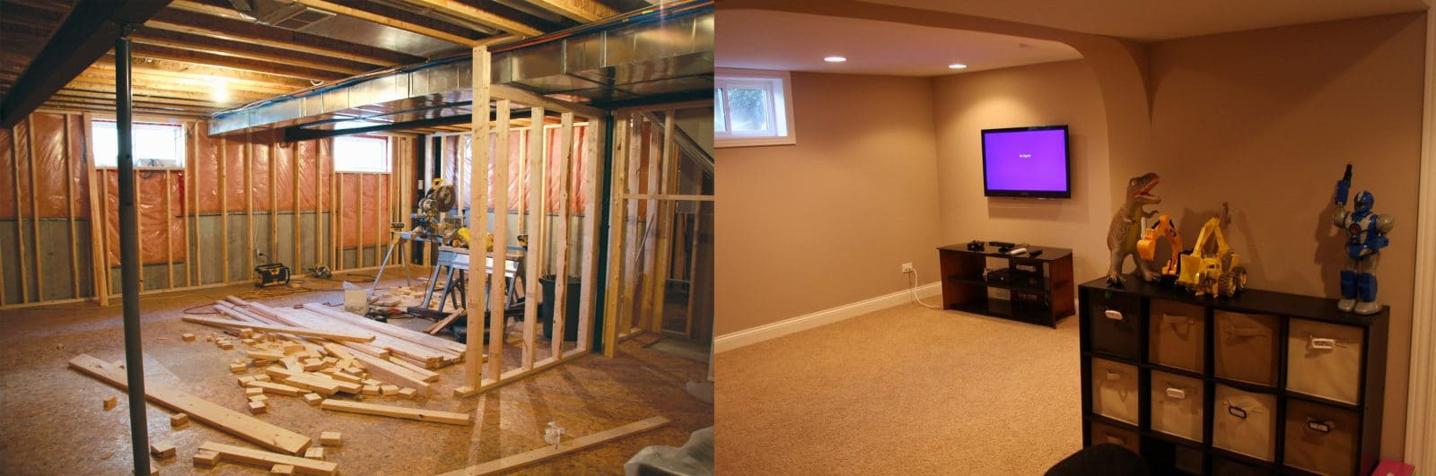befor and after basement remodeling basement remodeling chicago